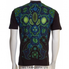 "T-shirt 3D Public Beta \""Metamorph\"", Noir"