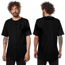 """T-shirt à boutons \""""Uneven\"""", Noir"""