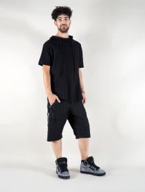 """T-shirt à capuche \""""Aldaron\"""", Noir"""