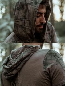 """T-shirt à capuche \""""Geomeister\"""", Beige foncé"""