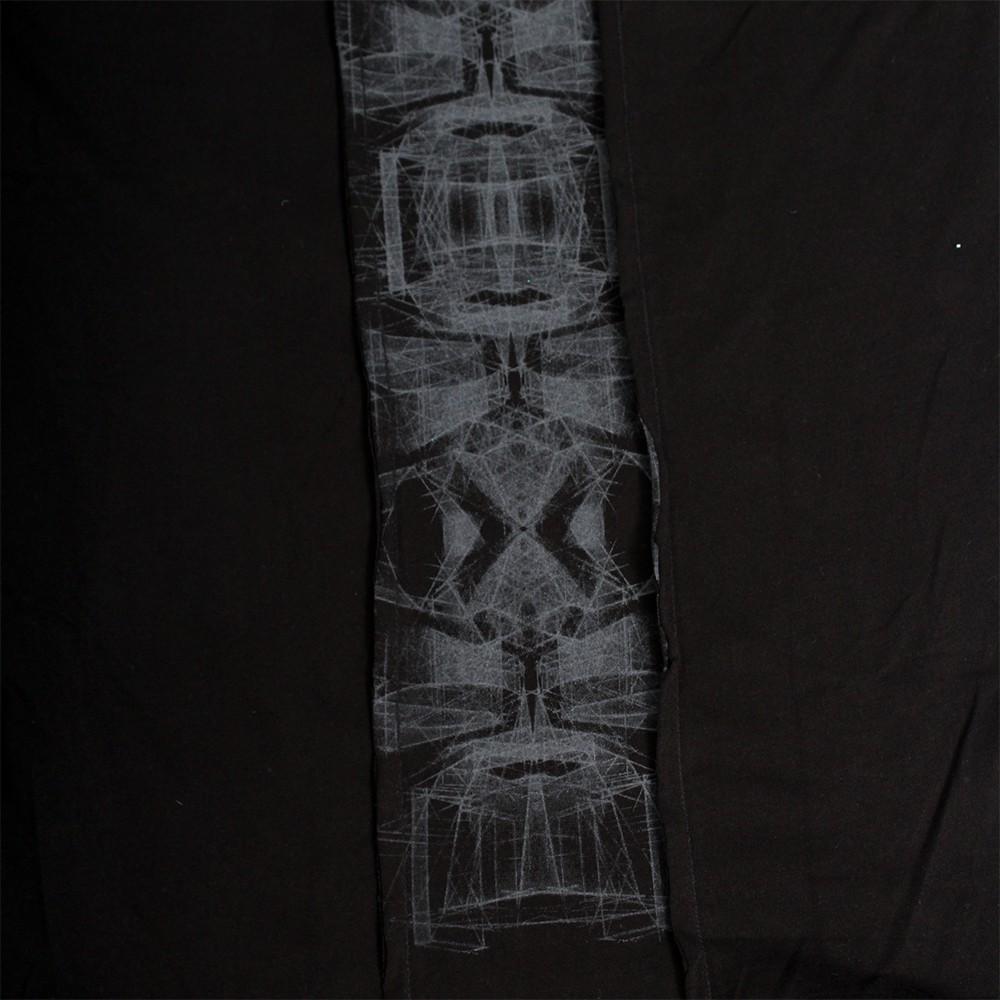 """T-shirt à capuche \""""Geomeister\"""", Noir"""