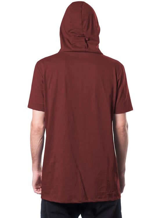 """T-shirt à capuche \""""Ninja\"""", Bordeaux chiné"""