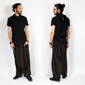 "T-shirt à capuche \""Ninja\"", Noir"