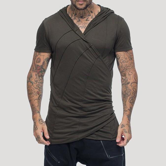 """T-shirt à capuche \""""Samouraï\"""", Kaki"""