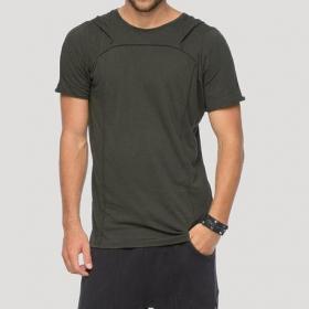 """T-shirt à capuche \""""Shelter\"""", Kaki"""