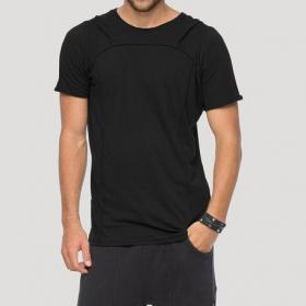 """T-shirt à capuche \""""Shelter\"""", Noir"""
