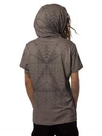 """T-shirt à capuche \""""Tenso\"""", Gris foncé"""