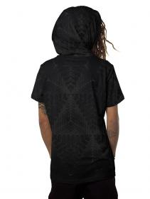 """T-shirt à capuche \""""Tenso\"""", Noir"""