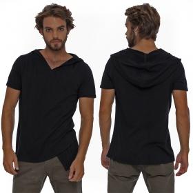 """T-shirt à capuche \""""Vipa\"""", Noir"""