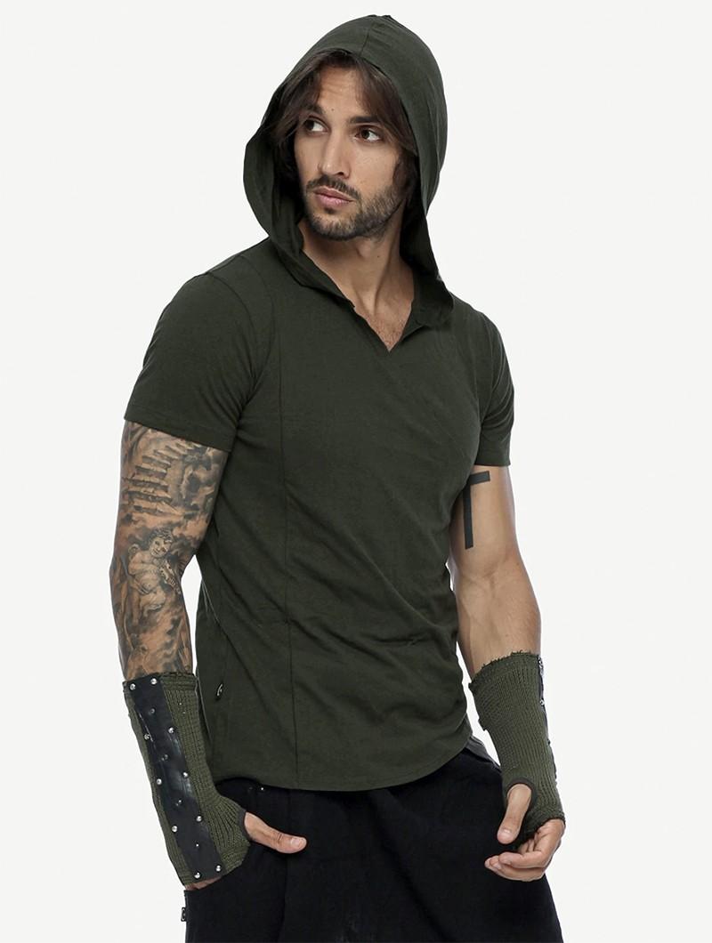 """T-shirt à capuche \""""Vipa\"""", Vert kaki"""