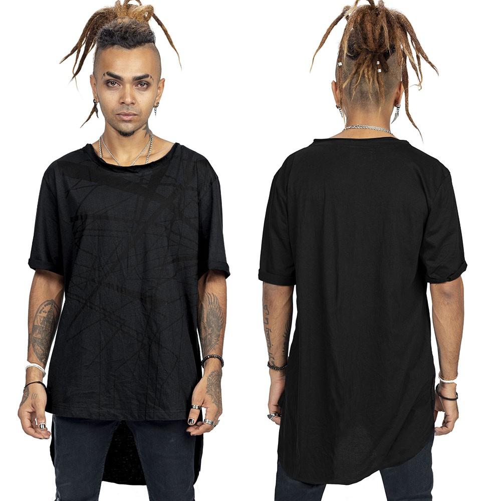 """T-shirt asymétrique \""""Anubis\"""", Noir"""