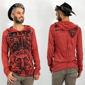"""T-shirt capuche \\\""""Bali Dragon\\\"""", Rouge foncé"""