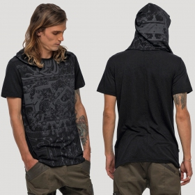 "T-shirt capuche \""Playa\"", Noir"