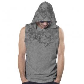 """T-shirt capuche PlazmaLab \""""Cyberis\"""", Gris industriel"""