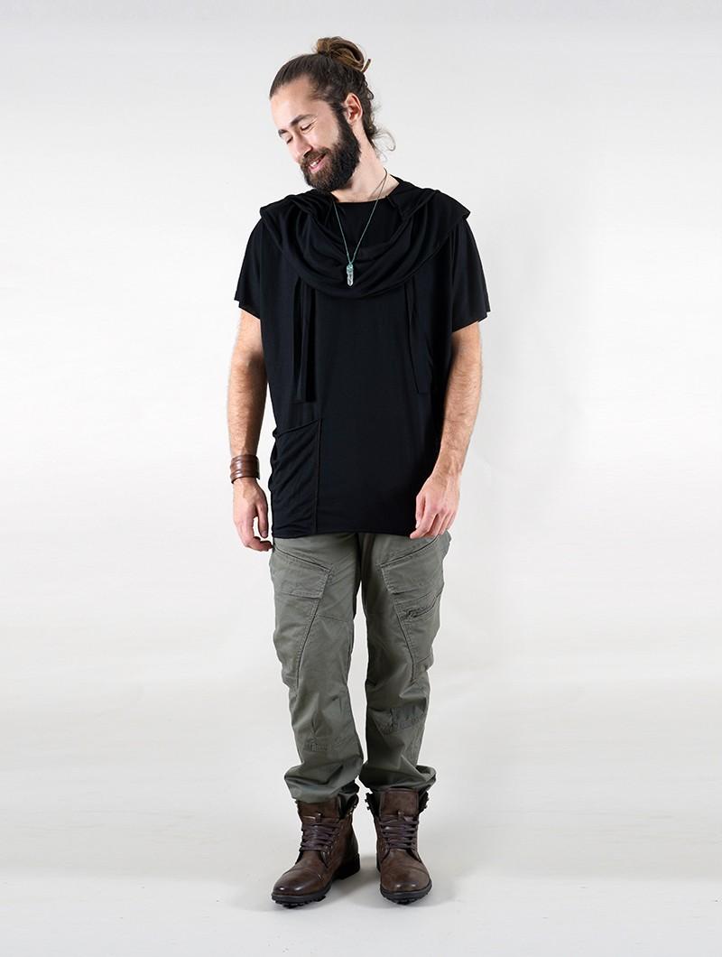 "T-shirt I-Ewer \""Kusumo\"", Noir"