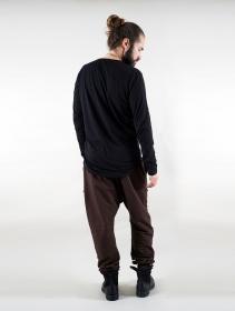 """T-shirt manche longue \""""Vulcan\"""", Noir"""