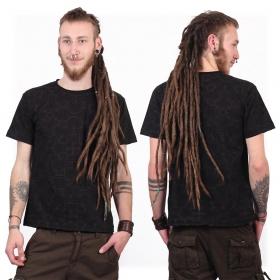 "T-shirt manches courtes \""Amun Shipibo\"", Noir"
