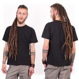 "T-shirt manches courtes \""Amun Swastika\"", Noir"