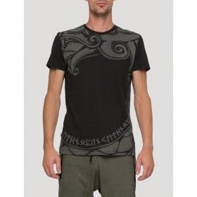 """T-shirt manches courtes \""""Dragon\"""", Noir"""