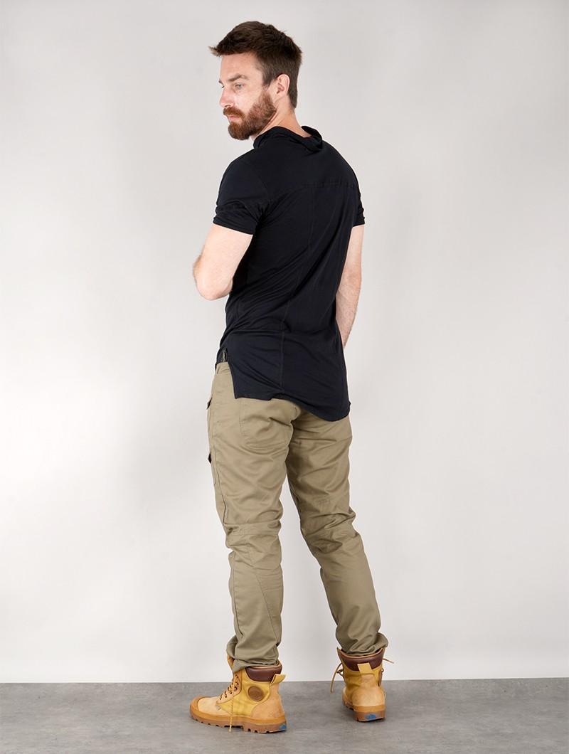 "T-shirt manches courtes \""Jupiter\"", Noir"