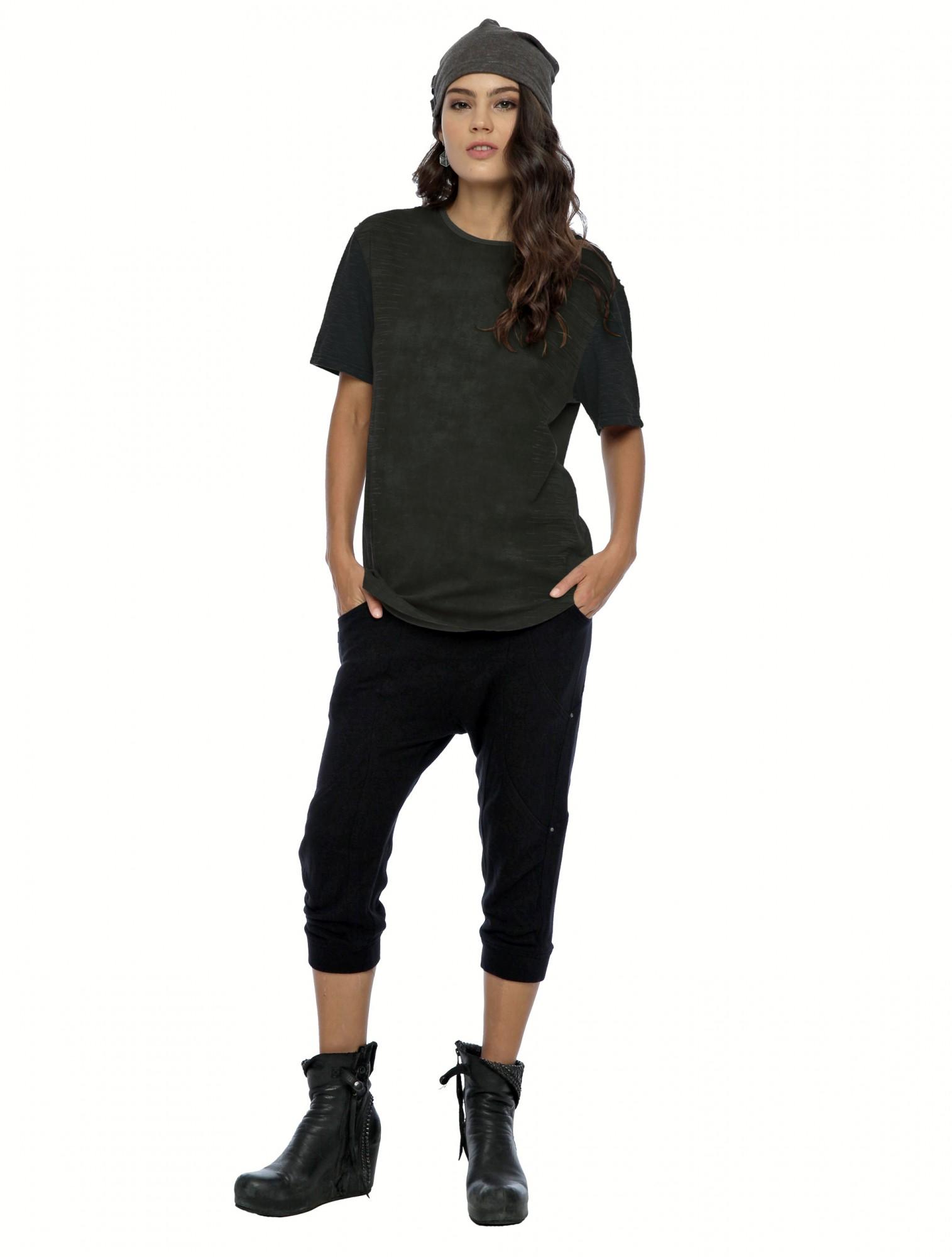 "T-shirt manches courtes unisexe \""Volcanic\"", Vert kaki"