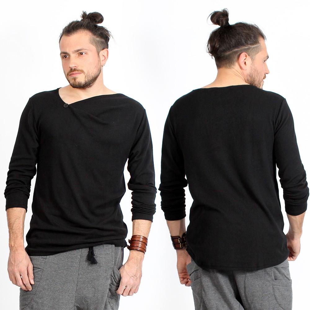 """T-shirt manches longues \""""Altoga\"""", Noir"""