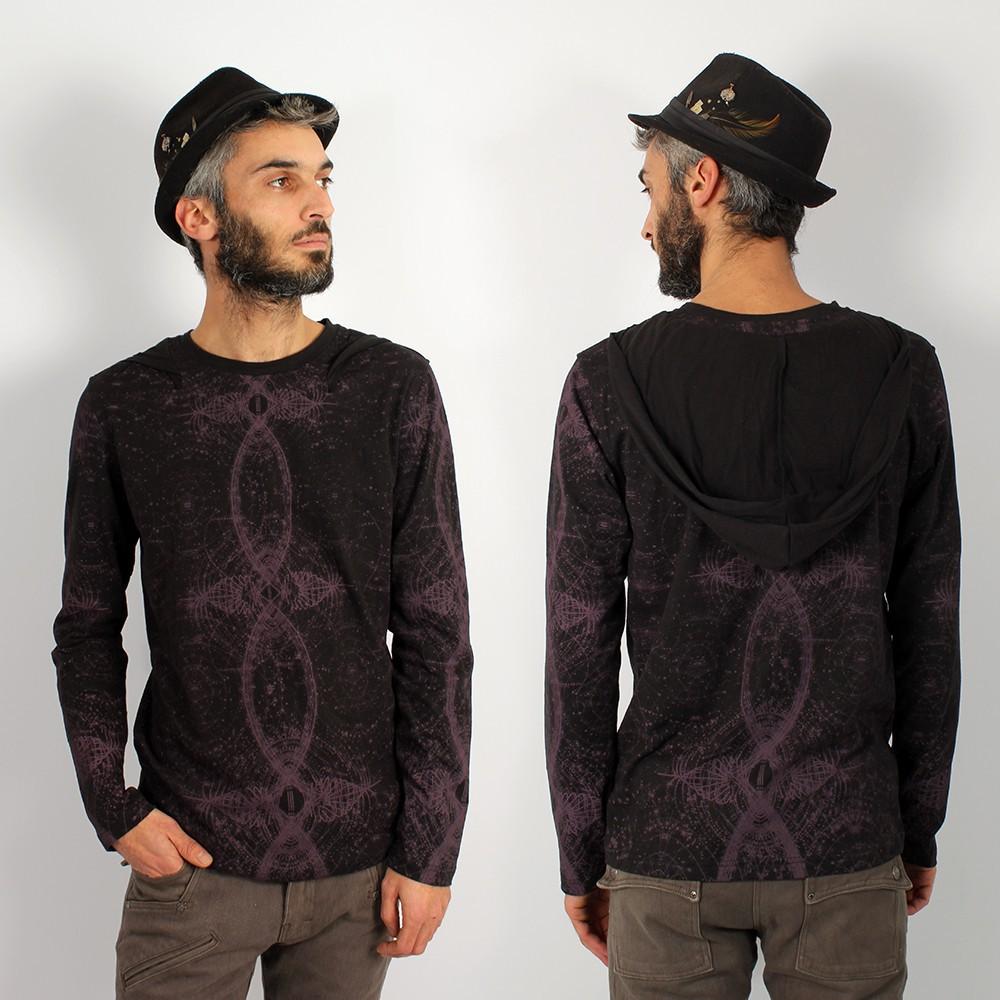 """T-shirt manches longues \""""Atlantic\"""", Noir"""