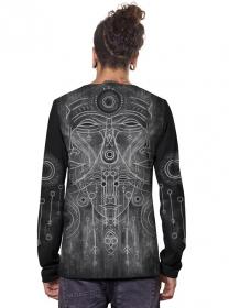 "T-shirt manches longues \""Buddha\"", Noir"
