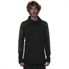 """T-shirt manches longues \""""Floral Mach\"""", Noir"""