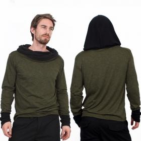 "T-shirt manches longues \""Nemöo\"", Kaki"
