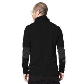 """T-shirt manches longues \""""One City\"""", Noir"""