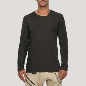 "T-shirt manches longues \""Shade\"", Kaki"
