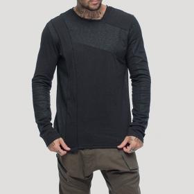 "T-shirt manches longues \""Shade\"", Noir"