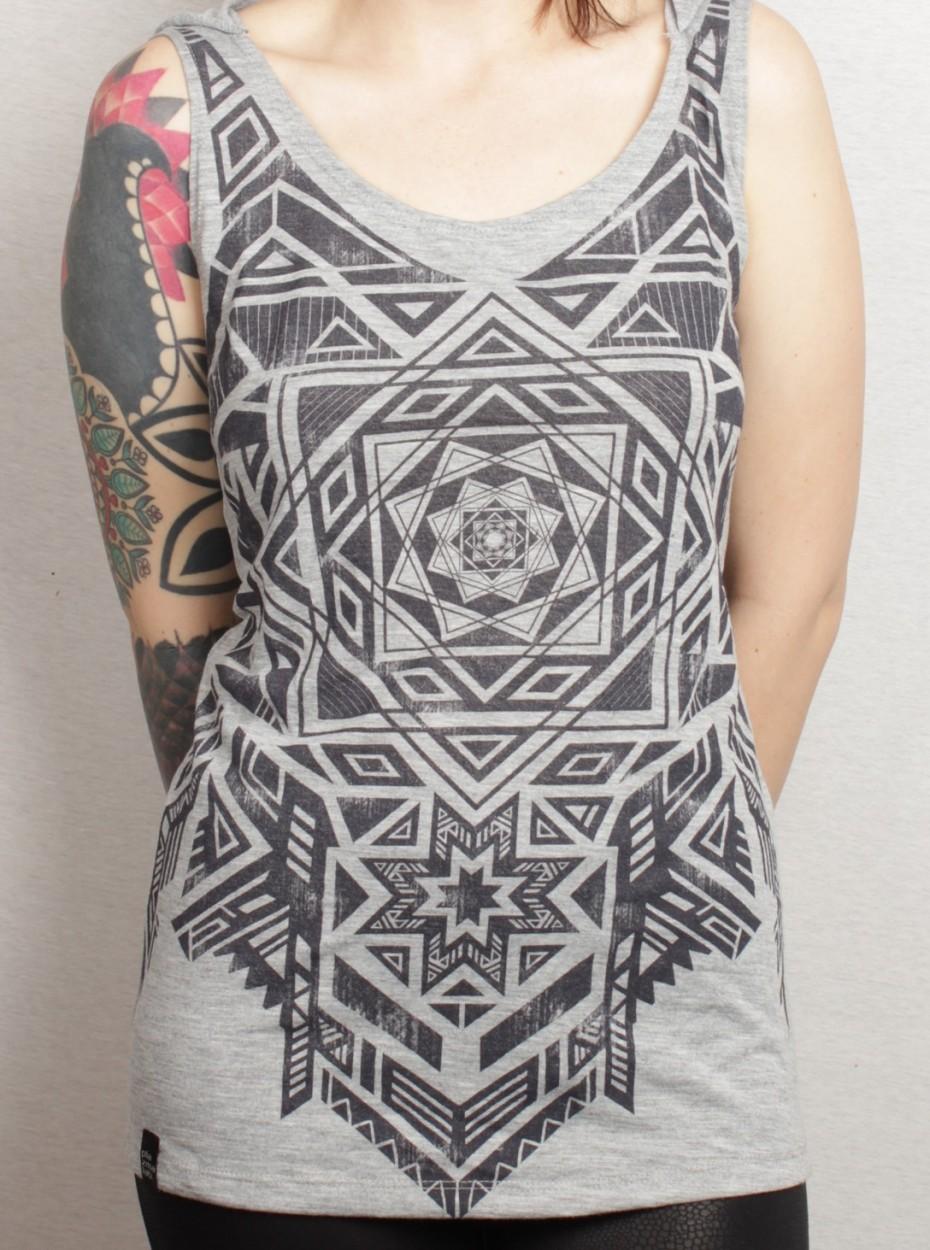 "T-shirt plazma \\\""lakshmi\\\"", gris"