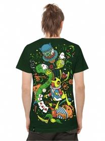 """T-shirt PlazmaLab \\\""""Aliza\\\"""", Vert"""