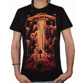 "T-shirt plazmalab \\\""beam me up\\\"", noir"