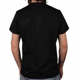 "T-shirt plazmalab \""beam me up\\\"", noir"