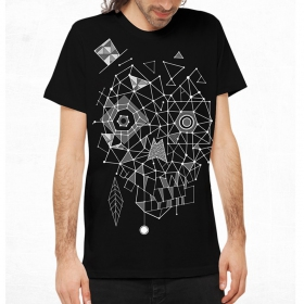 "T-shirt PlazmaLab \""Esqueleto\"", Noir"