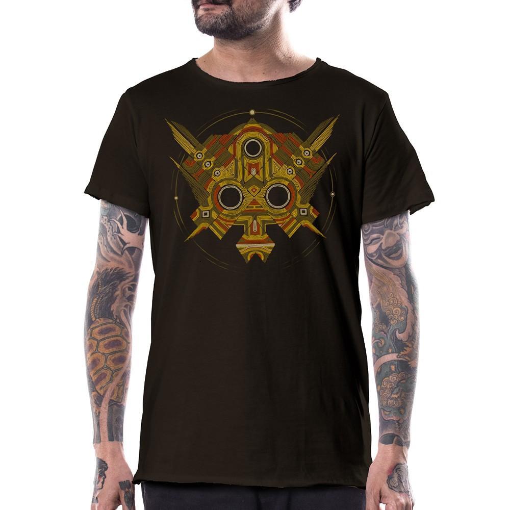 """T-shirt PlazmaLab \""""Extract\"""", Marron foncé"""