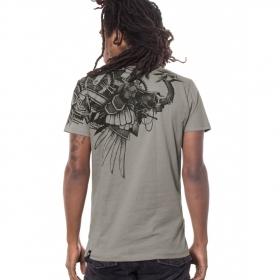 "T-shirt PlazmaLab \""Ostrich\"" Gris Clair"