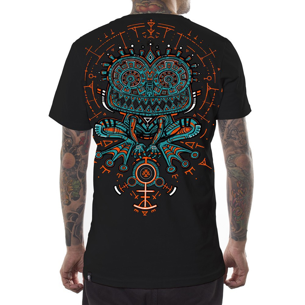 "T-shirt PlazmaLab \""Psychotoad\"", Noir"