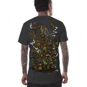 """T-shirt PlazmaLab \""""Soundgarden\"""", Gris foncé"""