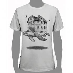 """T-shirt PlazmaLab \""""Turtle\"""", Blanc"""