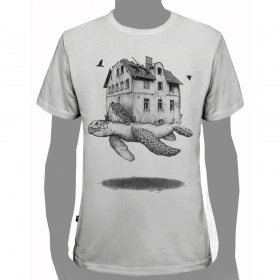 "T-shirt PlazmaLab ""Turtle\"", Blanc"