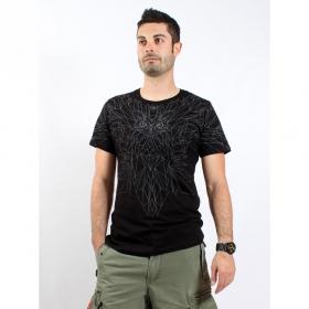 "T-shirt PlazmaLab \""Wings\"", Noir"