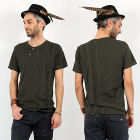 "T-shirt Psylo \""Serial\"", Olive"