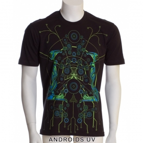 """T-shirt Public Beta \""""Androids\"""", Noir"""