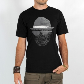 "T-shirt Rocky ""Anonymous print\"", Noir"