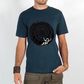 "T-shirt Rocky \""Astronaute spirale intersidérale\"", Bleu foncé"