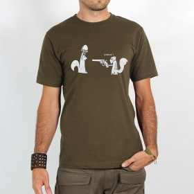 "T-shirt Rocky ""Braquage de noisette\"", Marron clair"